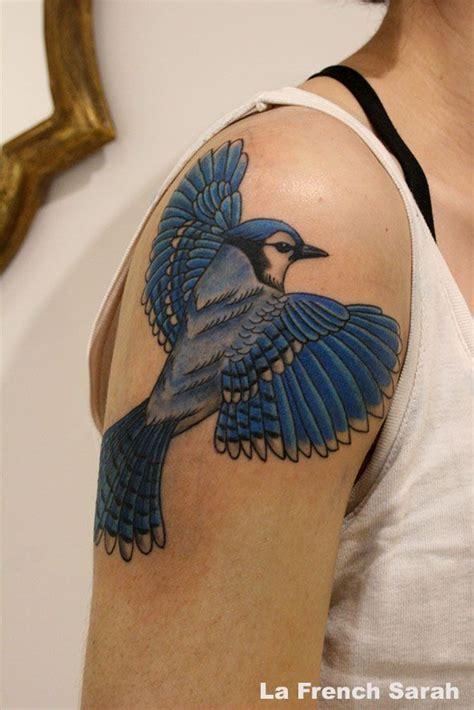 blue jay tattoo blue tatouage geai bleu owl