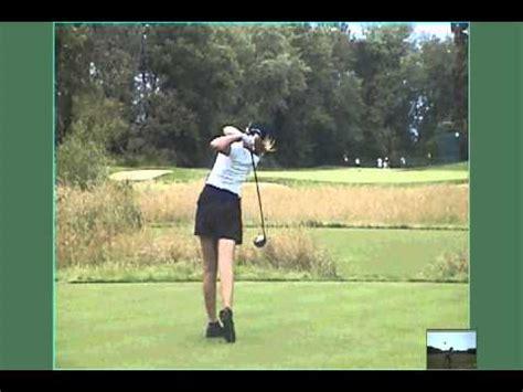 slow golf swing technique paula creamer jc video slow motion youtube