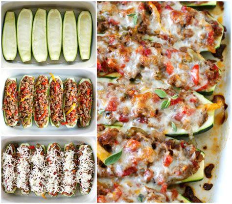 easy sausage stuffed zucchini boats sausage pepper and onion stuffed zucchini boats the