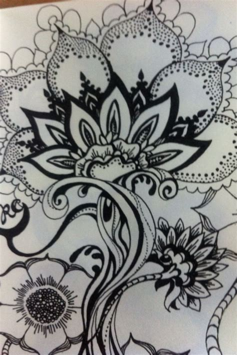 zendoodle drawing competition flowers zentangle design