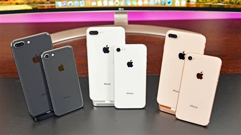 iphone 8 plus colors apple iphone 8 vs 8 plus unboxing review all colors