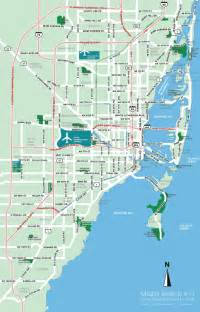 Map Miami by Miami Florida Tourist Destinations