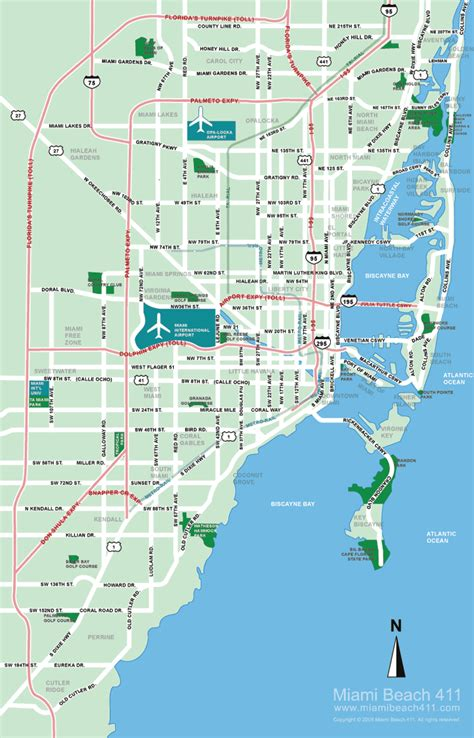 miami florida map