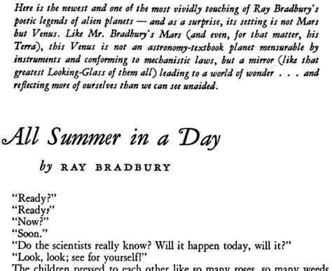 day story pbs wonderworks bradbury s all summer in a day 1982