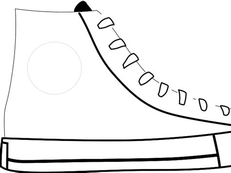 outline of a shoe cliparts co