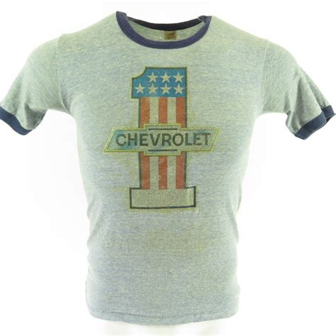 7 Great Shops For Retro Tees by Vintage 70s Chevrolet T Shirt S Hanes Usa Made Number One