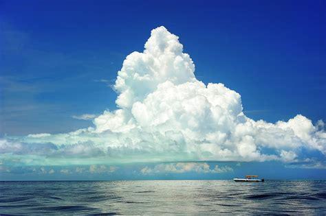 boat cloud free photo sea boat clouds cumulous marine free