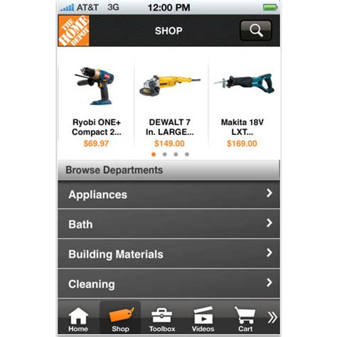home depot paint iphone app the new improved home depot iphone app