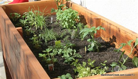 Vegetable Planter Box Turned Herb Garden Julie Writes In Vegetable Garden Planter Box Plans