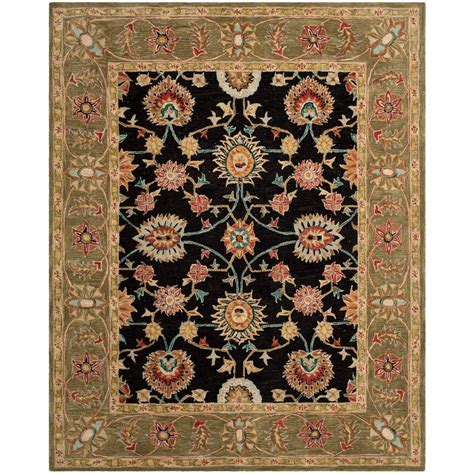 black and green area rugs safavieh anatolia black green 6 ft x 9 ft area rug an561c 6 the home depot