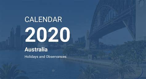 year  calendar australia