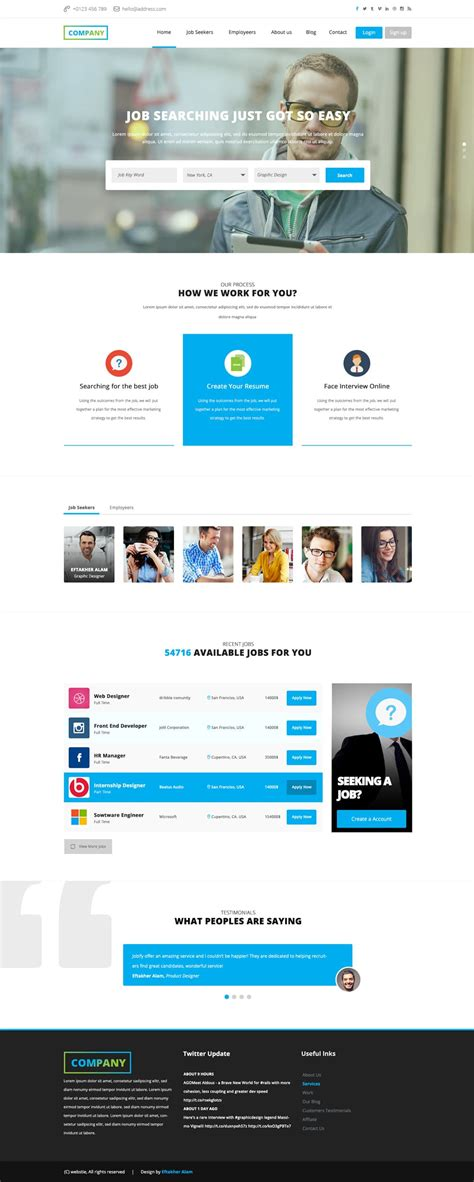 Board Website Template Free Corporate And Business Web Templates Psd