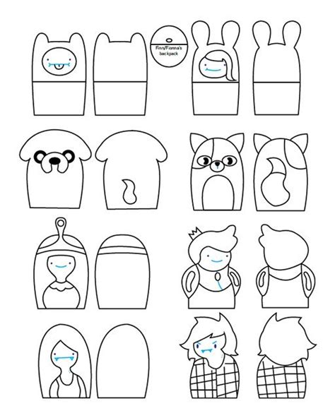 finger puppets templates family finger puppets coloring pages sketch coloring page