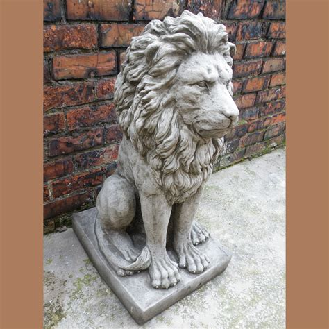 lion statue home decor large proud lion statue cast stone garden ornament patio