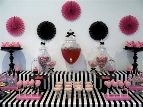 Pink And Black Birthday Decorations by Pink Black And White Pink Graduation