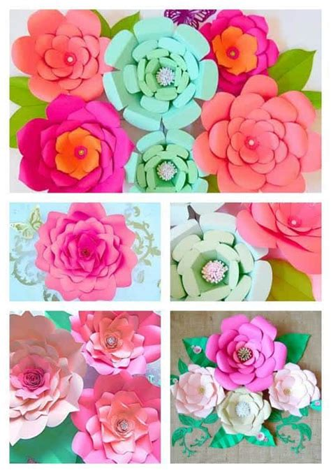 Make Big Paper Flowers - how to make paper flowers