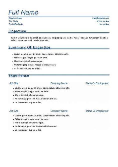 Free Template Resume by Free Resume Templates Fotolip Rich Image And Wallpaper