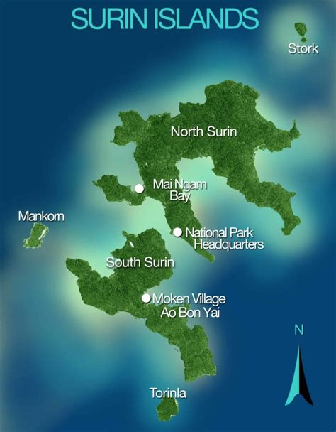 of island surin islands the area the moken islands