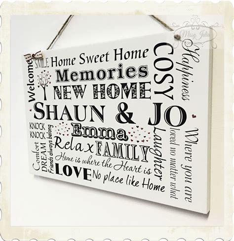 new home sign new home housewarming gift new home wooden plaque new home gift housewarming personalised sign