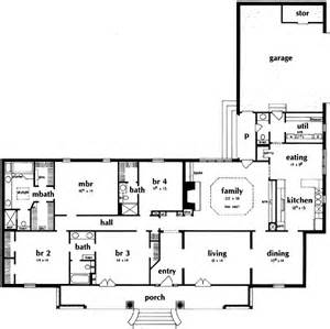 Rectangle House Plans One Story Italian Style House Plans 2773 Square Foot Home 1
