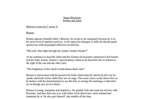Romeo And Juliet Balcony Essay by Romeo And Juliet Balcony Act 2 2 Gcse Marked By Teachers