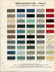 Mini Cooper Color Codes Bmc Bl Paint Codes And Colors Tech Library The