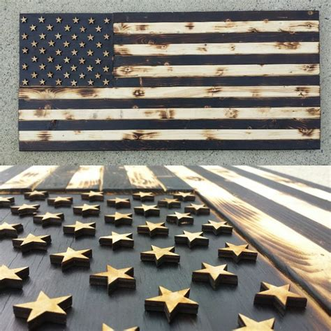 woodworking america image of black and white wood flag home sweet home