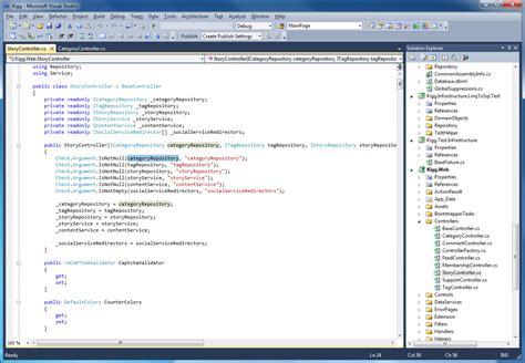 layout menu visual studio 2010 review visual studio 2010 ide techrepublic