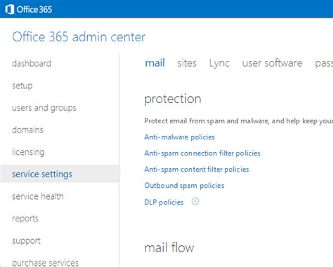 Office 365 Admin Login Ad Rms Rights Management Services For Office 365