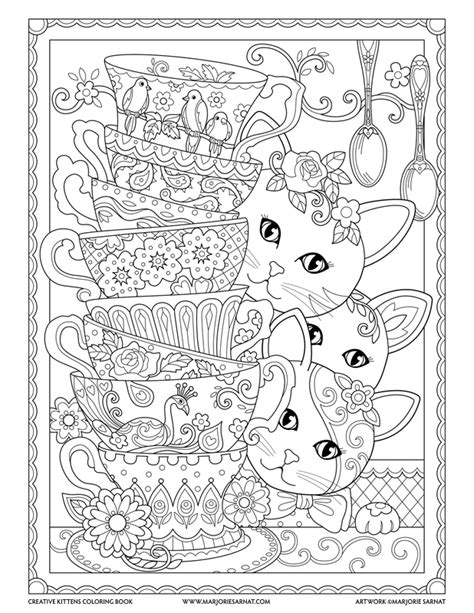 creative cats color by number coloring book coloring books creative kittens marjorie sarnat design illustration