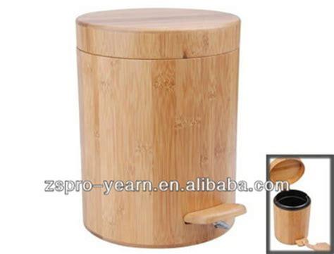 wooden bathroom bin bamboo wooden trash garbage can dustbin rubbish ash bin