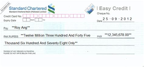 Credit Book Format Cheque Writing Printing Software For Pakistan Banks