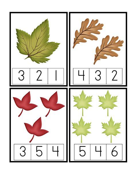 Printable Leaves With Numbers | preschool printables may 2012