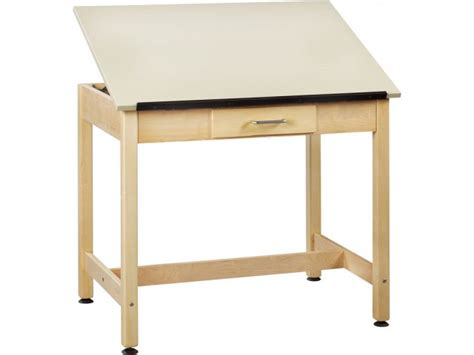 Drawing Table 1 Piece Top Small Drawer 30 Quot H Drafting Small Drafting Desk