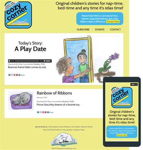 podcast website template bedtime story podcast website for