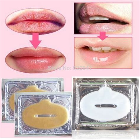 Gold Collagen Lip Mask 3 new gold powder gel collagen lip mask masks sheet patch 10pcs in from health