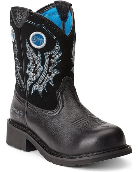ariat steel toe boots womens ariat s fatbaby steel toe western boots