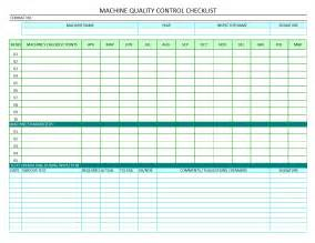 quality log template checks template quality checklist template excel