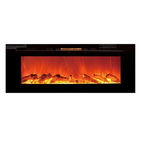Recessed Electric Fireplace Touchstone 80004 Sideline Recessed Wall Mounted Black Electric Fireplace