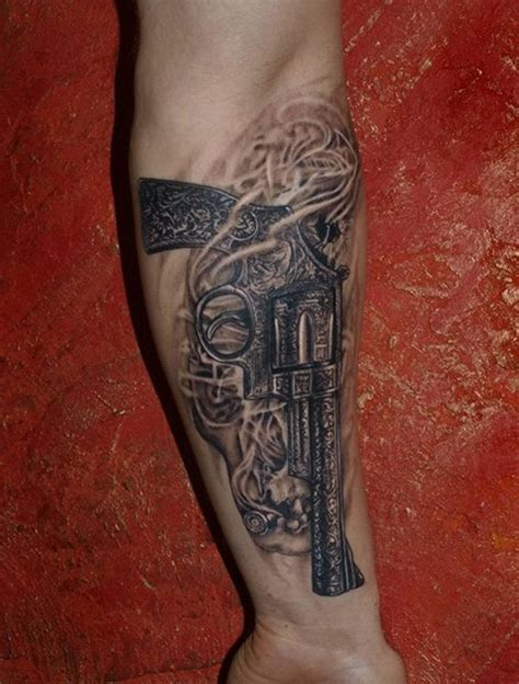 tattoo gun vintage black gray vintage gun forearm tattoo tattooimages biz