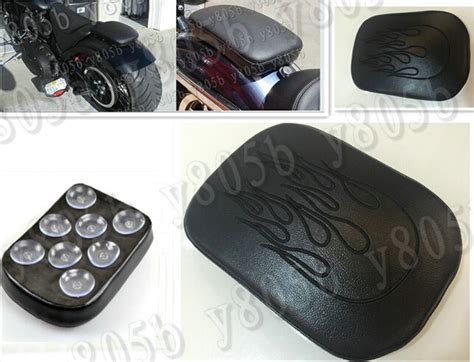sport bike passenger seat leather passenger rear seat pad 8 suction cup for
