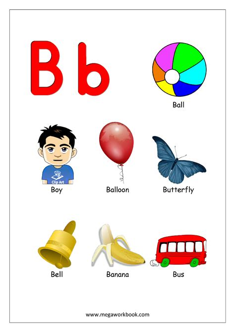 Start With The Letter B kindergarten the alphabet letter i worksheets things that
