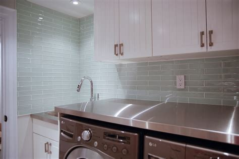 glass backsplash glass tile laundry room backsplash rambling renovators