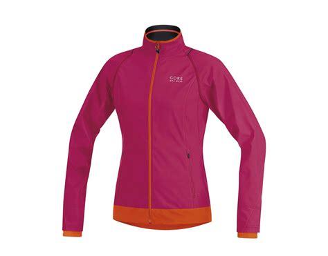 orange cycling jacket gore bike wear element windstopper active shell women s