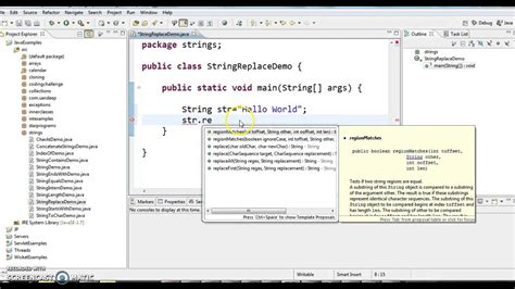 java pattern replace string how to replace a character in string in java youtube