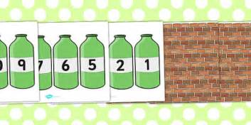 Green Bottles ten green bottles cut outs ten green bottles 10 green