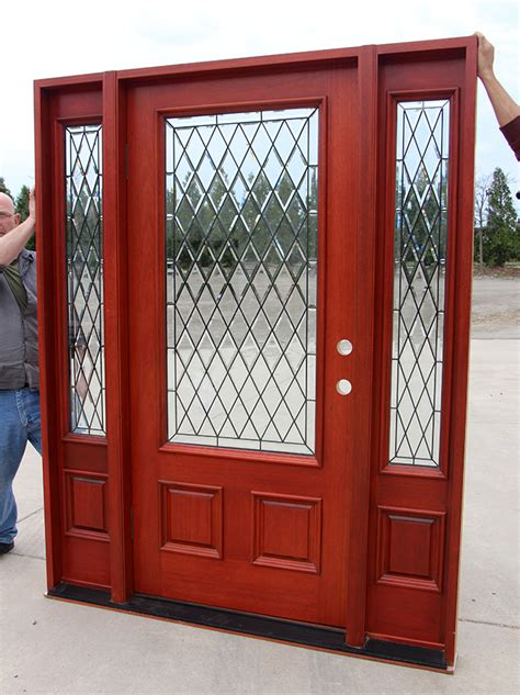 English Glass Solid Mahogany Exterior Doors Clearance Mahogany Front Doors With Glass
