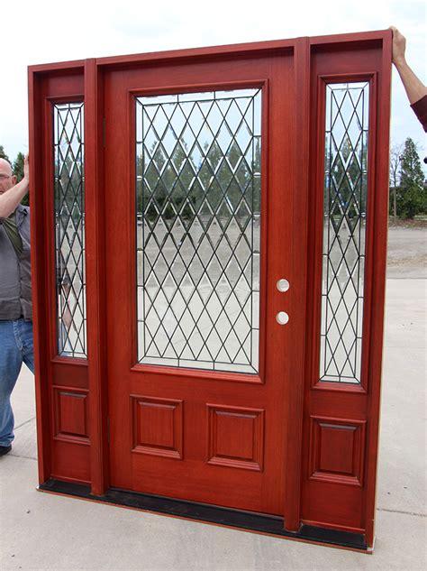 Exterior Door Clearance Glass Solid Mahogany Exterior Doors Clearance