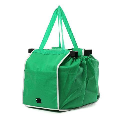 Promo Foldable Shopping Trolley Bag Tas Shopping Troli Lipat 1pcs as seen on tv grocery grab shopping bags foldable tote handbag reusable trolley clip to