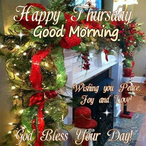 happy thursday good morning christmas blessings pictures